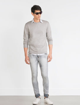 Soft Grey Jeans